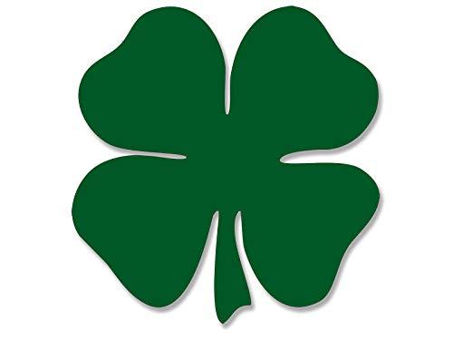 MAGNET 4x4 inch Green Shamrock SHAPED Sticker - decal lucky boston clover irish ireland Magnetic vinyl bumper sticker sticks to any metal fridge, car, signs