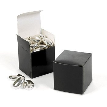"Black Gift Boxes - 2"" X 2"" - 12 count"