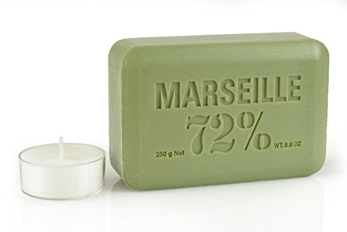 Pre de Provence Artisanal French Soap Bar Enriched with Shea Butter, Quad-Milled For A Smooth & Rich Lather (250 grams) - Olive Oil