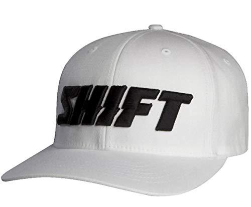 SHIFT Word Flexfit Hat [White] S/M White S/M