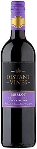 Broadland Wineries Distant Vines Merlot British Red Wine (6 x 75cl Bottles)