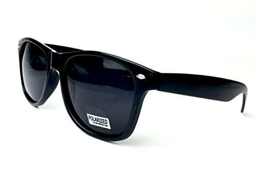 Goson UV400 Black Wayfarer Polarized 52mm - Faces Wide For Sunglasses