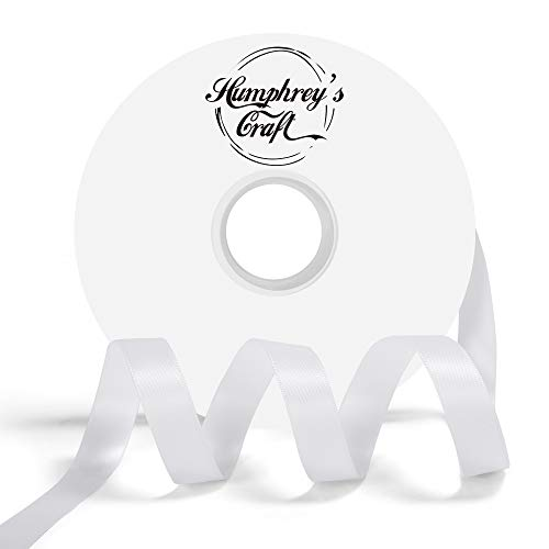 Ribbon Satin Double - Humphrey's Craft 5/8-inch Double Face Solid Satin Ribbon 100% Polyester Ribbon Roll-50 Yard (Off White)
