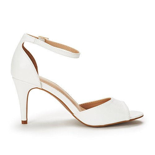 White Fashion PAIRS Stilettos Sandals DREAM Pump Pu Women's Open Toe EILEENA Heeled TtaIvxwq