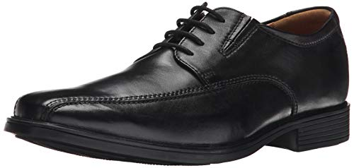CLARKS Men's Tilden Walk, Black Leather, 10 M US ()