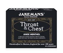 Jakemans Lozenge Throat and Chest Ainse Menthol, 24 ct