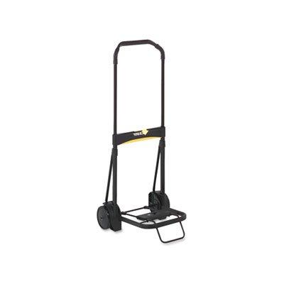 Locking telescopic handle extends to 39''. - KANTEK INC. Ultra-Lite Folding Cart, 200lb Capacity, 11 x 13 1/4 Platform, Black by Kantek (Image #2)