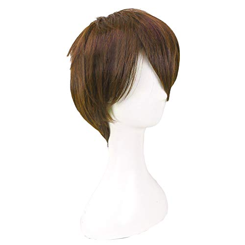 Wirt Brown Wig Over The Garden Wall Cosplay Accessory Anime Halloween Props Short Straight 20cm Heat Resistant Fiber -
