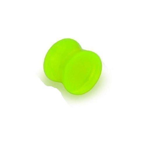 Coolbodyart nachtleuchtender angle plug évasé acrylic jaune-disponible dans les tailles : 3 mm - 25 mm 14 mm