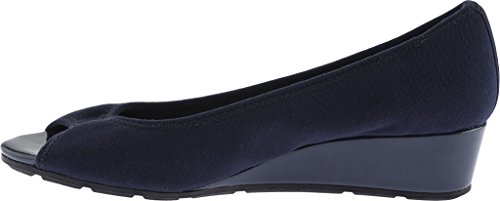 Anne Klein Sport Dames Camrynne Stof Wedge Pump Navy