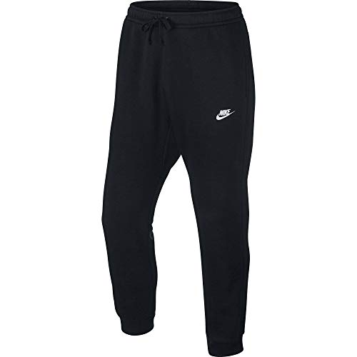 Men's Nike Sportswear Club Jogger Sweatpant, Fleece Joggers for Men with Pockets, Black/White, M