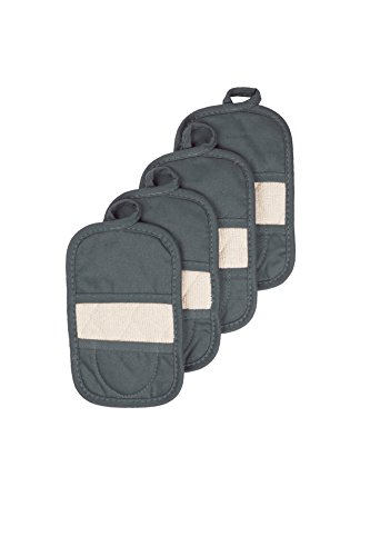 - Ritz Royale Collection 100% Cotton Terry Cloth Mitz, Dual-Function Pot Holder/Oven Mitt Set, 4-Pack, Graphite