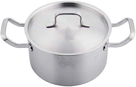 炒め鍋・深型フライパン 304ステンレススチールスープポット1層3層スチールポットダブルハンドルスープポットホームエッセンシャル ギフト プレゼント (Color : Silver, Size : 22cm)