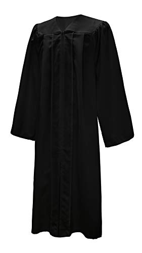 GGS Confirmation Robe Choir Robe Matte Finish Open Sleeves 12 Colors Black