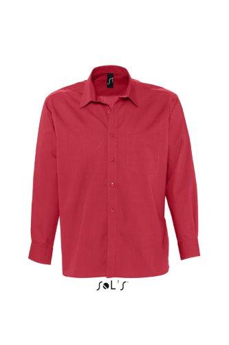 SOL´S Mens Long Sleeved Shirt Bradford, Größe:3XL, Farbe:Flamenco Red