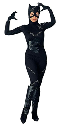 Plus Size Catwoman Costumes (UHC Women's Catwoman Batman Returns Dc Comic Fancy Dress Halloween Costume, Standard (Up To 12))