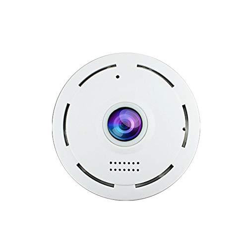 Cactus - Cámara IP inalámbrica de 360 grados con visualización de ojo de pez giratoria para vigilancia de la seguridad en...