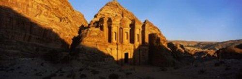 Posterazzi Deep shadows at the monastery Al Deir Temple Wadi Musa Petra Jordan Poster Print (36 x ()