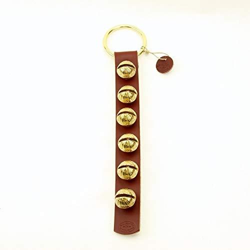 Solid Brass Sleigh Bell Door Hanger #2-6 ()