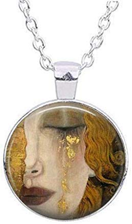 Amazon.com: Collar de mujer llorando, colgante de encanto ...
