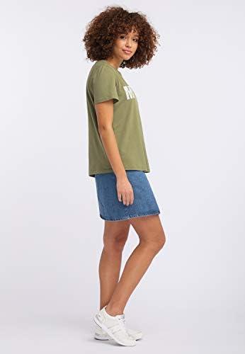 MUSTANG luźna koszulka damska z logo: Odzież
