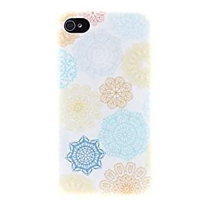 hao Colourful Paper-cut Pattern PC Hard Case for iPhone 4/4S