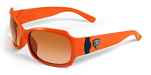 NFL Chicago Bears Bombshell Sunglasses with Bag, Orange/Navy
