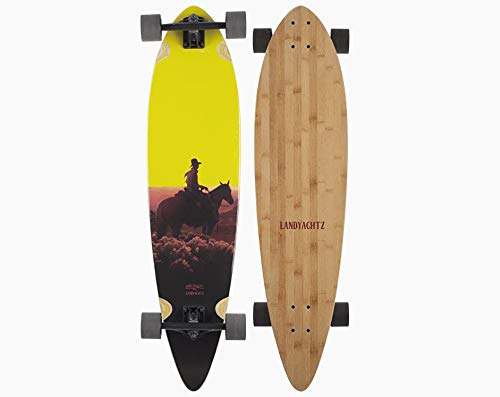 Landyachtz Pintail Cruiser Longboard Complete [Multiple Sizes and Graphics] (Sunset Kid (Bamboo)) ()