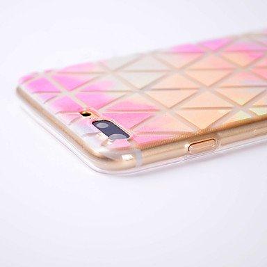 Fundas y estuches para teléfonos móviles, Para el iphone 7 7 más caso transparente de la contraportada del caso de la caja cubierta suave geométrica del caso para el iphone 6s 6 ( Modelos Compatibles  IPhone 6s/6