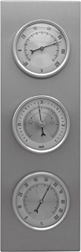 (Ambient Weather WS-L0801TBH Brushed Aluminum Traditional Weather Station)