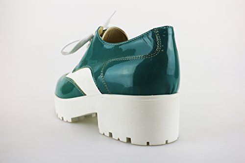 CRUZ zapatos elegantes dark Azul Rojo blanco cuero de ante dark Azul