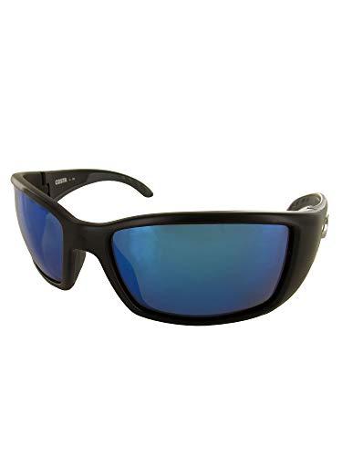 Costa Del Mar BLACKFIN Polarized Sunglass - Matte Black / Blue Mirror 580 - Mirror Matte Glass Blue Black