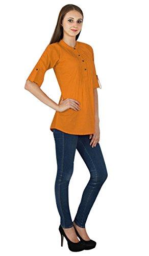 pour Solide Orange Sombre Boho Vtements Top Sundress Robe Coton Tunique en wfx8XZqCT8