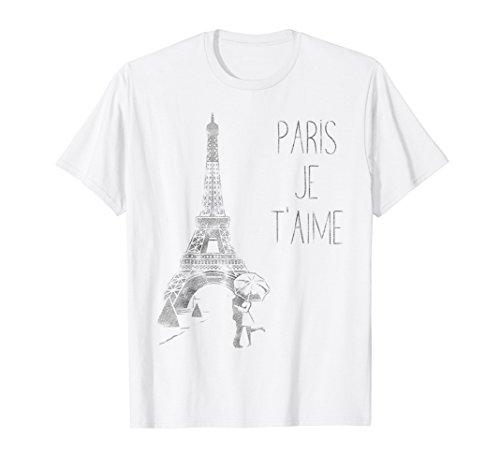 Paris Je T'aime (I Love You) T Shirt, hand drawn sketch