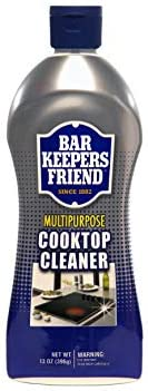 Bar Keepers Friend Multipurpose Cooktop Cleaner (13 oz) - Liquid Stovetop Cleanser - Safe for Use on Glass Ceramic Cooking Surfaces Copper Brass Chrome and Stainless Steel and Porcelain Sinks