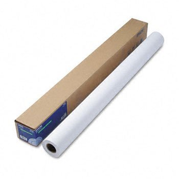 Epsonamp;reg; Double Weight Matte Paper, 44amp;quot;w, 82`l, White, Roll