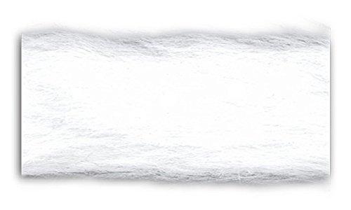Trimplace Faux Fur Trim - White 1 inch - 10 Yards White Faux Fur Trim