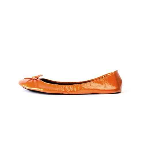 tailles pliables Ballerines ruban les femme jusqu' patent disponibles avec orange dans Chaussures qTxvwEUU