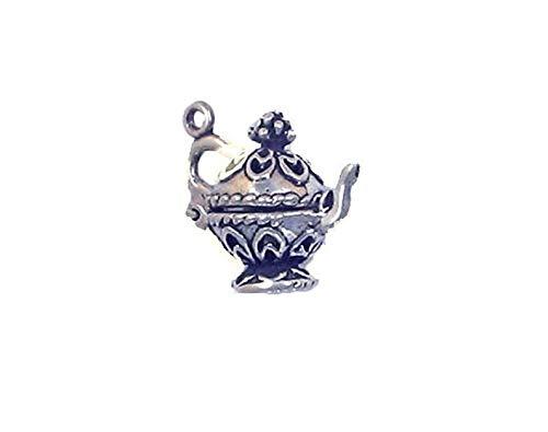 Sterling Silver 3-D Ornate Teapot Charm