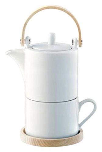 LSA International Circle Espresso Cup & Ash Saucer 0.09L, White/Ash, Set of 2 CU01