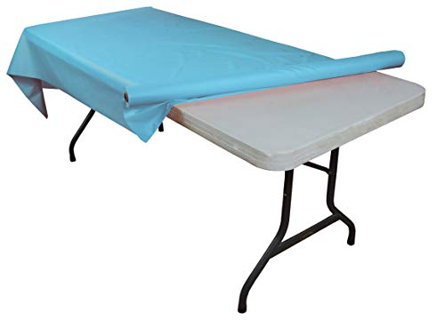 Light Blue plastic table roll