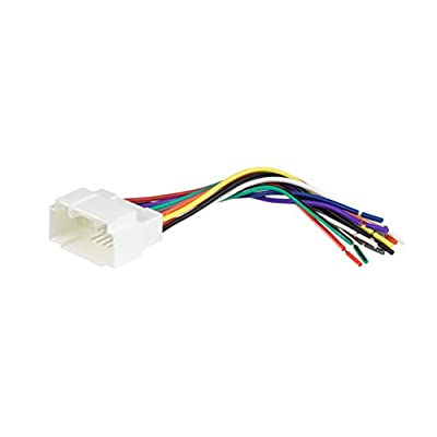 Scosche HA08B Wiring Harness Kit to Connect an Aftermarket Stereo Receiver for Select 1998 to 2011 Honda and Acura Vehicles: Car Electronics