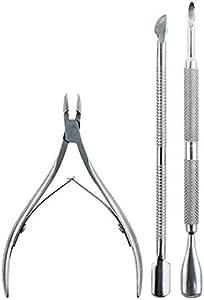 3Pcs Nail Art Cuticle Spoon Pusher Clipper Nipper Cutter Manicure Tool Kit Set