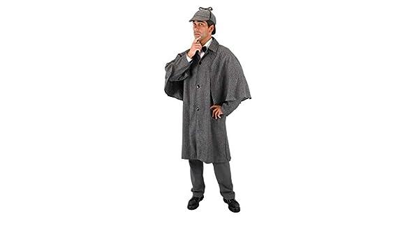 Carnaval de Sherlock Holmes Detective Disfraz abrigo: Amazon.es ...