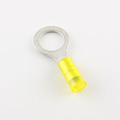 16-12 Ga. Heavy Duty Nylon-Insulated Ring Terminals, 1/2
