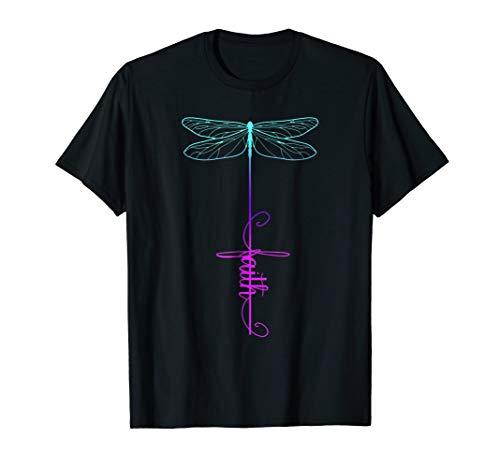 Dragonfly Faith Christian The Cross Woman Costume T-Shirt