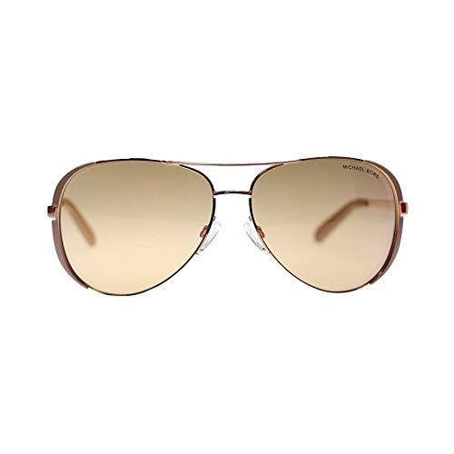 Michael Kors Chealsea Womens Sunglasses M5004 1017R1 Rose Gold Aviator 59mm ()