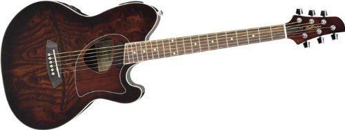 Cutaway Acoustic-Electric Guitar Vintage Brown Sunburst ()