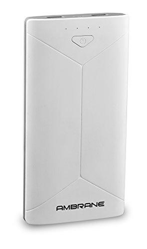 Ambrane Power Bank P 2080  16000 mAh  White