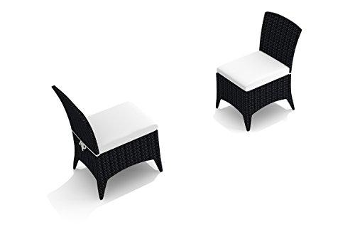 (Harmonia Living HL-AR-CB-DSC-CN Arbor Dining Side Chair, Canvas Natural Cushion)
